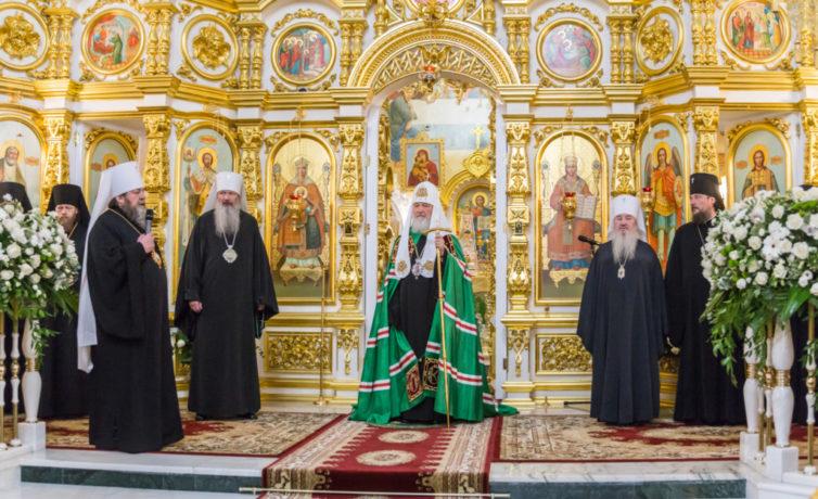 Визит Святейшего Патриарха Кирилла в Михайловский собор