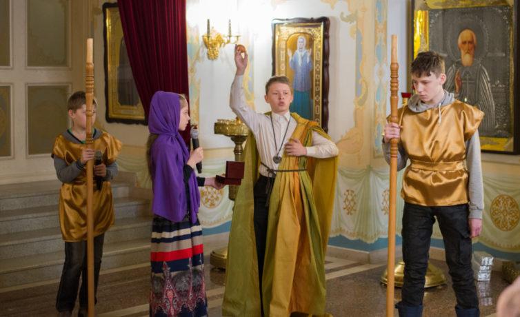 Пасхальный праздник в Воскресной школе собора
