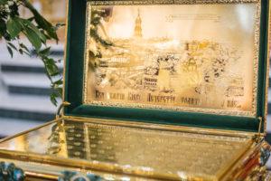 В кафедральный собор переданы частицы мощей Киево-Печерских святых